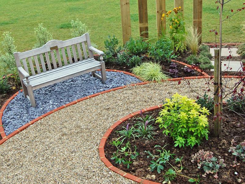 Memorial garden for school - commemorative bench