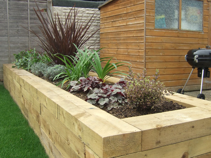 Contemporary Raised Beds