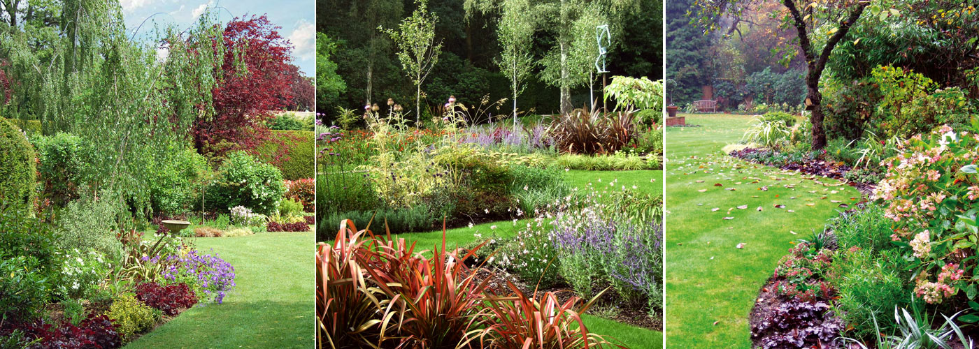 Large mixed planting schemes