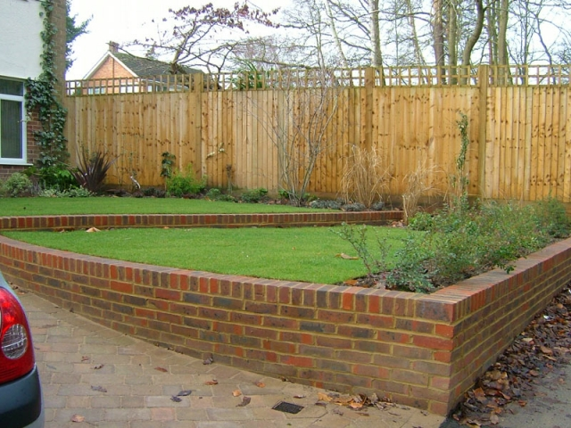 Front garden with brick terracing