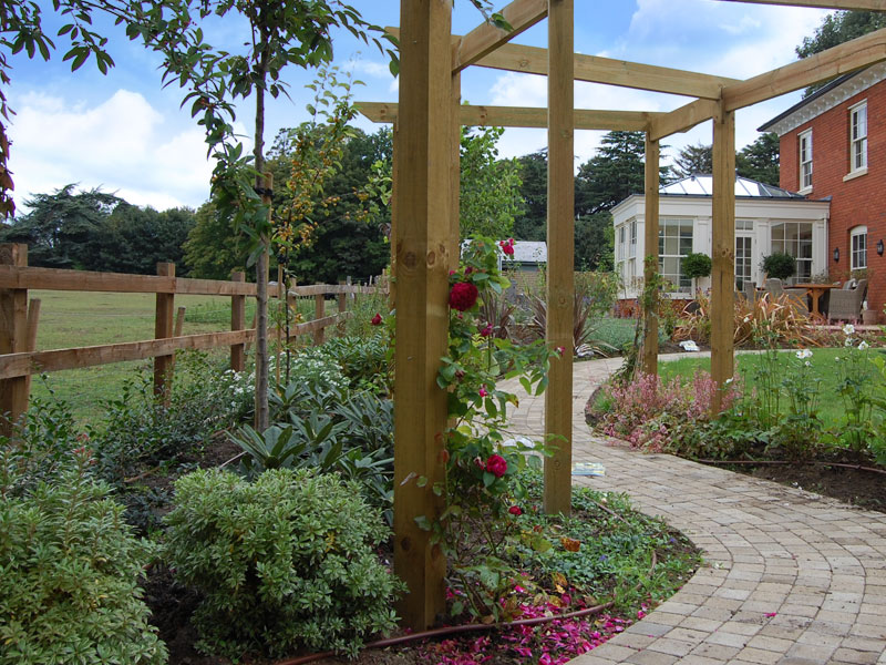Pergola and winding path