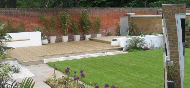 Exotic Deck Garden